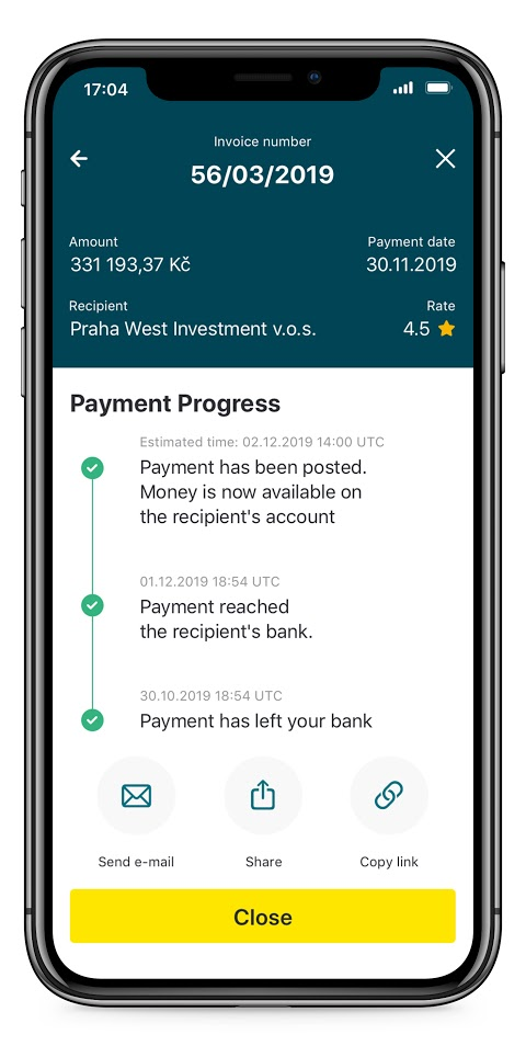 payment progress